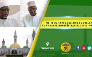 VIDEO -  Visite du Cadre Unitaire de l'Islam à la Grande Mosquée Massalikoul Jinaan - Allocution de Serigne Cheikh Tidiane Sy et du Représentant du Khalif Mbackiyou FAYE
