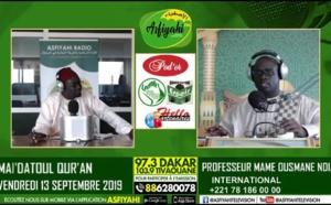 Professeur Mame Ousmane Ndiaye - Introduction Plateau Spécial sur l'école de El Hadj Malick Sy