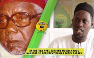VIDEO -  Entretien avec Serigne Mouhamadoul Mansour SY Président du Dahira Sopéy Dabakh de Ouagou Niaye 2 Copée