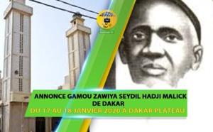 VIDEO - Gamou 2020 Zawiya El Hadji Malick Sy de Dakar, Samedi 18 Janvier 2020