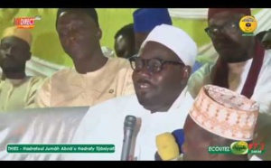 VIDEO - HADARA 2020 ABNA'U THIES -  Le Message fort de Serigne Moustapha Sy Al Amine sur l'organisation des Hadaras