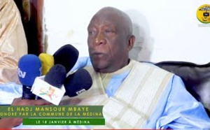 VIDÉO - El hadj Mansour MBAYE honoré par la commune de la Médina