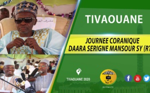 VIDÉO - Suivez la Journée coranique du Daara Serigne Mansour Sy (rta) présidée par Serigne Mame Malick Sy Mansour, samedi 11 Janvier 2020