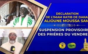 VIDÉO - Suspension des prières du Vendredi : Déclaration Imam Ratib de Dakar Alioune Moussa SAMB -