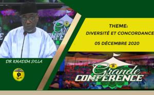 """""""GRANDE CONFÉRENCE"""" du 5 décembre 2020, DR KHADIM SYLLA sur le thème Diversité et Concordance"""