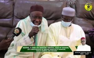 FASS-Rappel à Dieu Sr A. Aziz Sy Djamil - Les Condoléances de Serigne Babacar Sy Mansour Al Khalifa