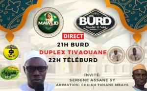 TÉLÉBURD du 11 Octobre En Duplex de Tivaouane -INVITE: Serigne Hassane Sy et Cheikh Tidiane Mbaye