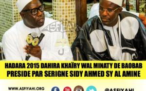 VIDEO - Suivez la Hadara 2015 du Dahira Khaïry Wal Minaty de Baobab, presidé par Serigne Sidy Ahmed Sy Ibn Al Amine
