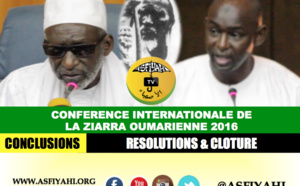 VIDEO - CONFERENCE ZIARRA OUMARIENNE 2016 - Lecture des Resolutions par Cheikhou Oumar SY et Conclusions de Thierno Madani Tall
