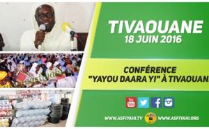 """VIDEO - Suivez la Conférence Religieuse """"Yayou Daara Yi"""" de Tivaouane, édition 2016, , animée par Serigne Sidy Ahmed Sy Abdou"""