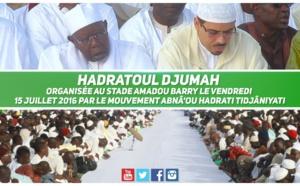 VIDEO - Suivez le Film de la Séance de Hadratoul Djumah organisée au Stade Amadou Barry le 15 Juillet 2016 sous la présidence de Serigne Abdoul Aziz Sy Al Amine