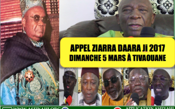 VIDEO - Suivez l'avant-première de la Ziarra Daara Ji 2017, qui se tiendra ce Dimanche 5 Mars à Tivaouane