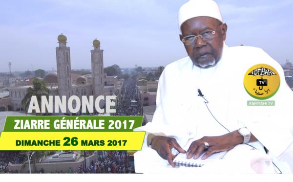 VIDEO - Suivez la Déclaration de Serigne Abdoul Aziz Sy Al Amine en prelude à la Ziarre Générale 2017 prevue le Dimanche 26 Mars à Tivaouane