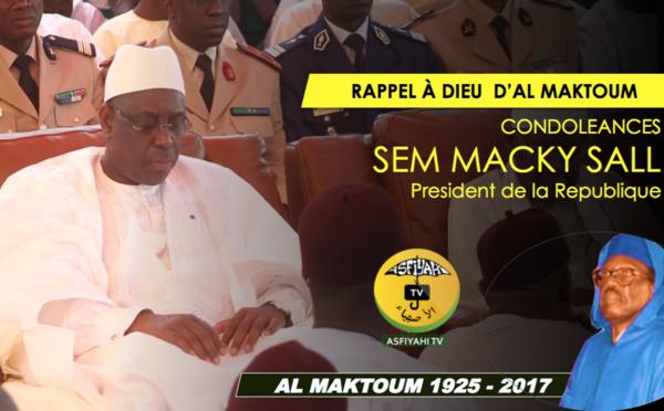 VIDEO - Rappel à Dieu de Serigne Cheikh Tidiane Sy - L'allocution de son Excellence Macky Sall