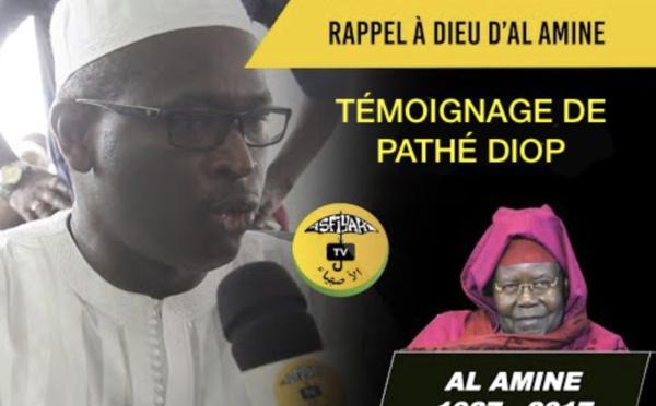 VIDEO - RAPPEL À DIEU D'AL AMINE - L'émouvant témoignage de Pathé Diop, assistant de Serigne Abdoul Aziz Sy Al Amine