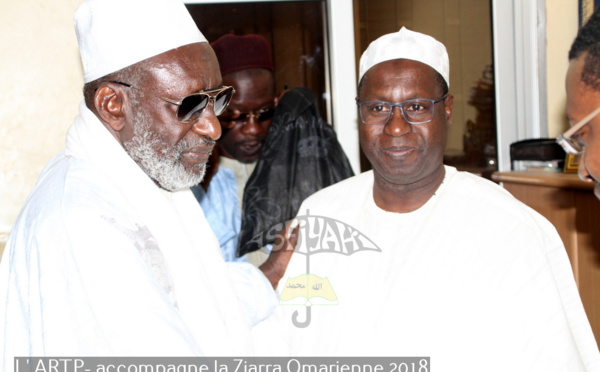 PHOTOS - VIDEO : L'ARTP accompagne la Ziarra Omarienne 2018 - Le DG Abdou Karim Sall reçu par Thierno Madani Tall