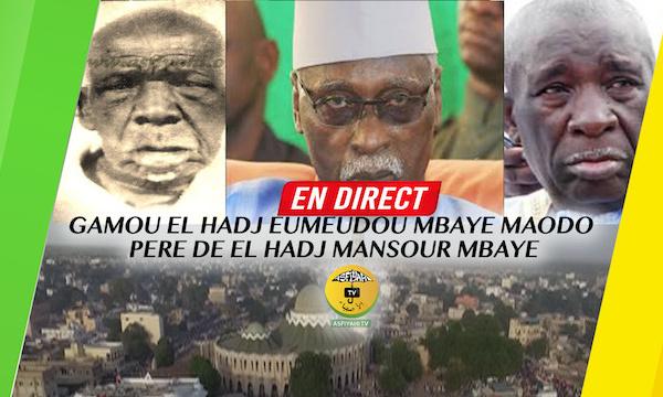 [REPLAY] TIVAOUANE - Revivez le Gamou El Hadj Eumeudou Mbaye Maodo (rta) pere de El hadj Mansour Mbaye, presidé par le Khalif Serigne Mbaye Sy Mansour