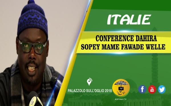 VIDEO - ITALIE - PALAZZOLO SULL'OGLIO : Suivez la conférence de la Dahiratoul Sopey Mame Fawade Wellè co-prèsidè par Serigne Sidy Ahmed SY Dabakh, Serigne Babacar SY Habib et Serigne Pape Makhtar Kèbè et animèe par Cheikh Diop et son groupe.