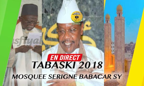 DIRECT TIVAOUANE TABASKI 2018 - Suivez la Prière en Direct de la Mosquée Serigne Babacar Sy