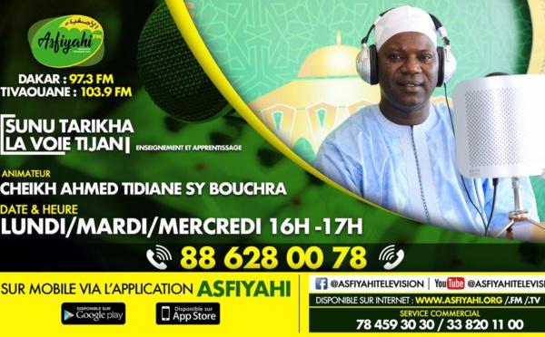 SUNU TARIQA du 02 JUILLET 2019 avec Cheikh Ahmed Tidiane SY BOUCHRA:Théme:question / réponse sur la Tariqa