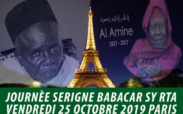 FRANCE - PARIS : Journée Serigne Babacar Sy rta dédiée à Serigne Abdoul Aziz Sy Al Amine sous la présence de Serigne Moustapha Sy Abdou ce vendredi 25 Octobre 2019