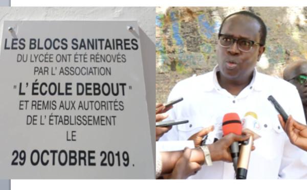 """VIDEO - L'association """"Ecole Debout"""" de Serigne Habib Sy Ibn Al Maktoum réhabilite  les blocs sanitaires  du Lycée Malick SY de Thiés"""