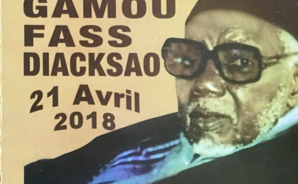 Le Gamou de Diacksao sera célébré les Vendredi 20 et Samedi 21 Avril 2018
