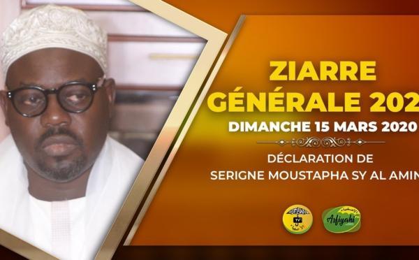 VIDEO - ZIARRE GENERALE 2020, Dimanche 15 Mars - Suivez la Déclaration de Serigne Moustapha Sy Abdou au nom du Khalif General des Tidianes et du Porte-parole
