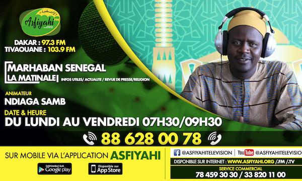 marhaban senegal du jeudi 19 mars 2020 par oustaz Ndiaga Samb