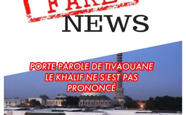 DÉMENTI - Porte-parole de Tivaouane: Le Khalif ne s'est pas encore Prononcé!