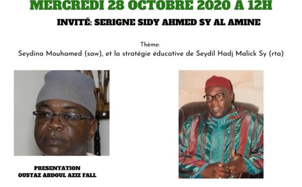MAWLID 2020 - TÉLÉ-CONFERENCE - INVITÉ: Serigne Sidy Ahmed Sy Al Amine - Seydouna Mouhamed (saw) et la stratégie éducative de Seydil Hadj Malick Sy (rta)