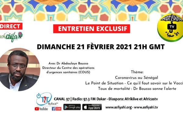 ENTRETIEN EXCLUSIF avec Dr Abdoulaye Bousso, directeur du Centre des opérations d'urgences sanitaires (COUS)