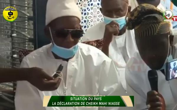SITUATION DU PAYS La déclaration de Cheikh Mahi Niasse, Khalif Gènèral de Medina Baye
