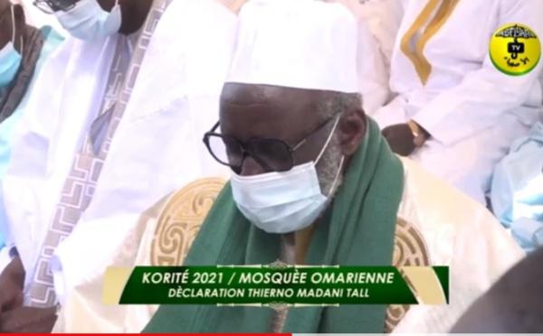 Mosquée Omarienne - Korité 2021 : Thierno Madani TALL a formulé des prières importantes à l'endroit des pays musulmans...