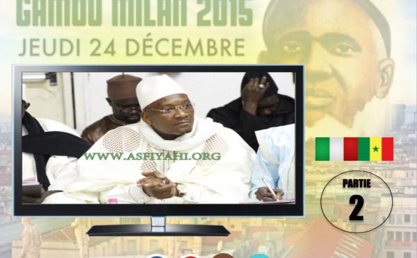 VIDEO - ITALIE - Suivez le Gamou 2015 de la fédération des Dahiras Tidianes de Milan, animé par Serigne Ahmed Sarr de Louga (24 Décembre 2015)