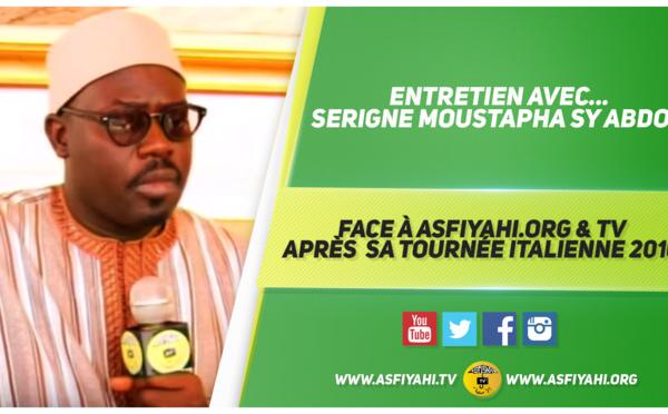 VIDEO - Entretien Avec Serigne Moustapha Sy Abdou face à Asfiyahi.Org & TV après sa tournée Italienne 2016