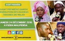 VIDEO - Suivez l'avant-première du Gamou de la Federation des Tidianes de Milan, prévu le Samedi 24 Décembre 2016