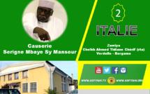 VIDEO - ITALIE - BERGAMO : Suivez la visite de Serigne Mbaye Sy Mansour à la Zawiya Cheikh Ahmed Tidiane Chèrif (rta) de Bergamo