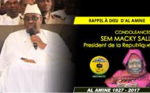 VIDEO - RAPPEL À DIEU D'AL AMINE - Le Message de Condoléances du President de la République Macky Sall
