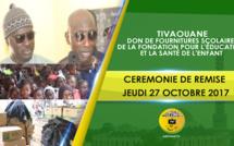VIDEO - REPORTAGE - La Fondation pour l'éducation et la santé de l'enfant dirigée par Pape Abdou Sy ibn Serigne Babacar Sy Mansour, offre des fournitures scolaires aux Écoles de Tivaouane