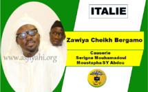 VIDEO - ITALIE - BERGAMO : Suivez la causerie de Serigne Moustapha SY Abdou à la Zawiya Cheikh de Bergamo dans le cadre de sa tournée Italienne 2018.