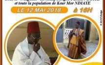 ANNONCE VIDEO - Gamou Keur Mor Ndiaye 2018, Samedi 12 Mai à Keur Mor Ndiaye, (Fandéne, Region de Thies) L'appel de Oustaz Ibrahima Ndao