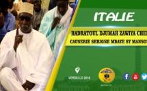 VIDEO - ITALIE - BERGAMO : Suivez la causerie du Khalif General des Tidianes Serigne Mbaye SY Mansour  à la Zawiya Cheikh de Bergamo dans le cadre de sa tournée Italienne 2018.