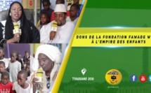 VIDEO -  Remise de Dons de la Fondation Fawade Wéllé (Cellule de Zaragoza, Espagne) à l'Empire des Enfants par le biais de Sokhna Oumou Khaîry Sy