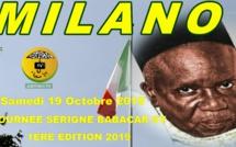 ITALIE - MILAN : Bande Annonce Journée Serigne Babacar Sy rta à Milan samedi 19 Octobre 2019 sous la présence effective de Serigne Moustapha Sy Abdou et animée par El Hadji Doudou Kende Mbaye à l'Hotel Ramadan Via Stamira d'Ancona 27 Milano