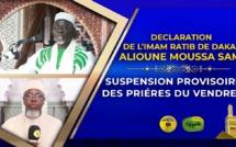 URGENT | VIDÉO - GRANDE MOSQUÉE DE DAKAR - L'Imam Ratib  El Hadj Alioune Moussa Samb annonce la  suspension temporaire des prières du Vendredi à la Grande Mosquée de Dakar