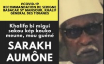 AUDIO - COMMUNIQUÉ OFFICIEL - Serigne Babacar Sy Mansour recommande l'acquittement d'une  Aumône (KOUKO MEUNE, NEU GUÉNÉ SARAKH)