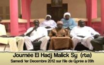 VIDEO BANDE ANNONCE : 9éme Edition de la Journée El Hadj Malick Sy qui se tiendra à Gorée le Samedi 1er Decembre 2012