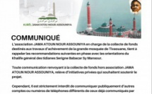 AUDIO - Grande Mosquée de Tivaouane - Communiqué de l'association JAMA ATOUN NOUR ASSOUNIYA du Lundi 28 Septembre 2020