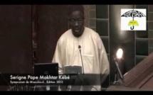 VIDEO - Allocution de Serigne Pape Makhtar Kébé - Symposium Maouloud 2013